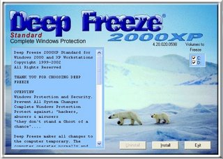DEEP FREEZE GRATUIT TÉLÉCHARGER 2000XP