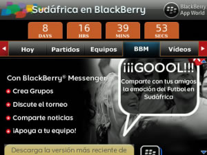 blackberry sudafrica 2010