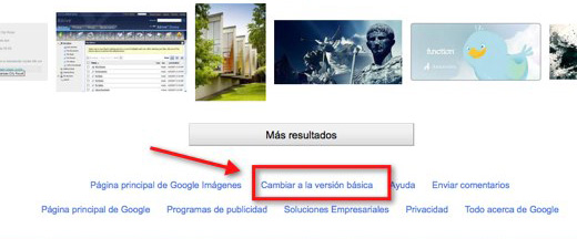 como cambiar a la antigua version de google image