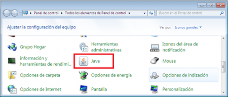 Java en Windows 7