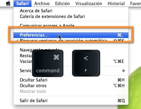 preferencias de safari en mac