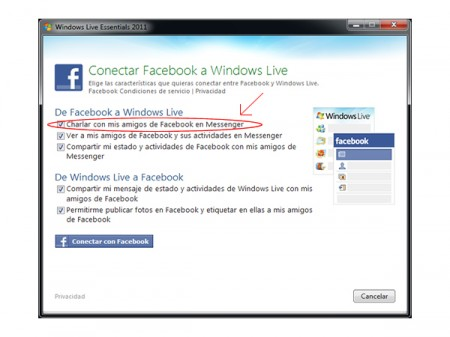Unir Facebook a MSN